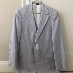 Other - Seersucker Blazer Jacket Suit